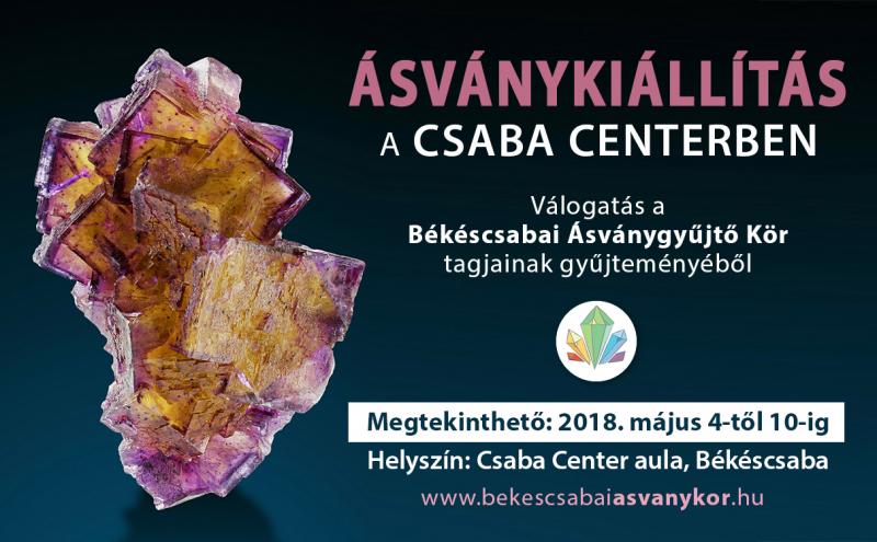 Ásványkiállítás a Csaba Centerben